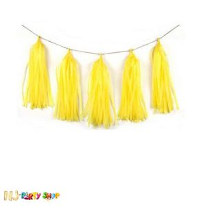 Paper Tassels Decoration -  Yellow