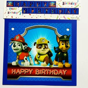 Paw Patrol Happy Birthday Banner