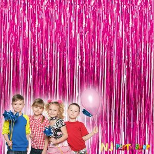 Pink Foil Curtain Party Decoration