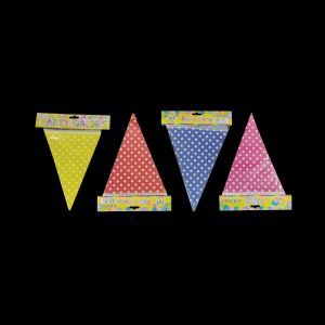 Polka Dot Bunting Banner - Set of 1