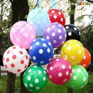 Polka Dots Rubber Balloon - Set Of 25