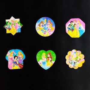 Princess Theme Hanging Decoration / Stickers - Set of 6