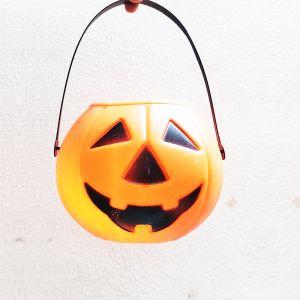 Pumpkin Bucket Plastic for Halloween