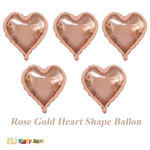 Rose Gold Heart Shape Foil Balloon Set of - 1