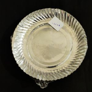 Silver Paper Plates - Set of 50