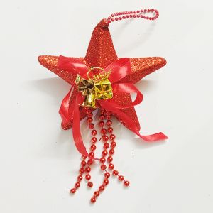 Small Star Hanging - Red