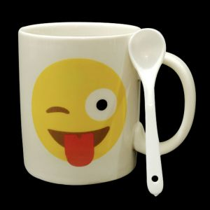 Smiley Mugs With Spoon