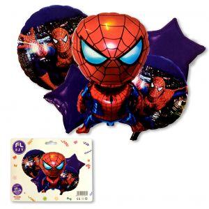 Spiderman Foil Balloons - Set of 5