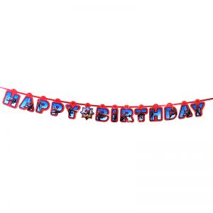 Spiderman Theme Happy Birthday Banner
