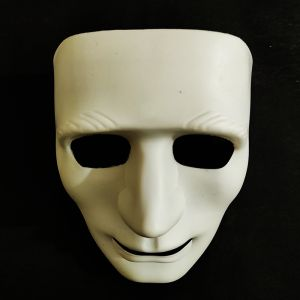 Stoneman Plastic Face Mask - White