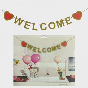 Welcome Glitter Banner