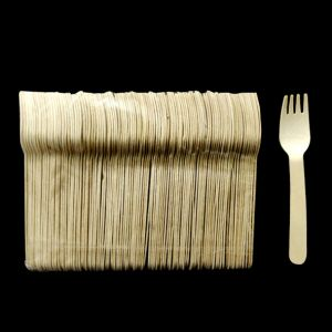 Wooden Fork Disposables - Pack of 100