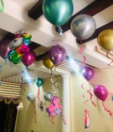 Chrome Colouful Balloons Ceiling