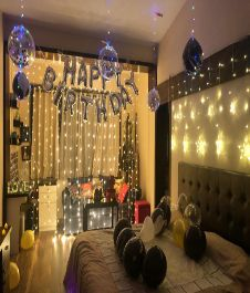 Silver Foil Happy Birthday Banner And Silver Confetti Balloons