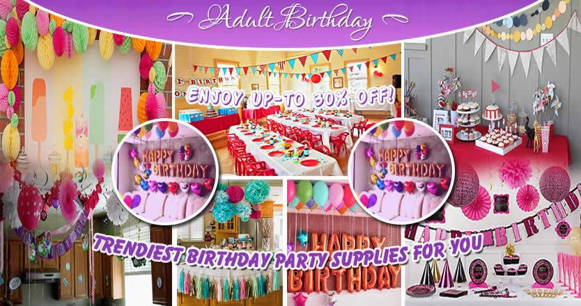 Adult Birthday Decorations